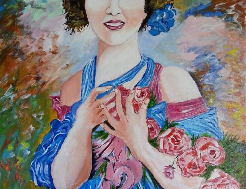 Fanciulla adornata di rose