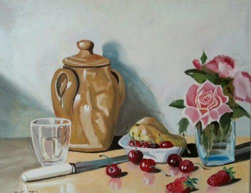 Ciliegie, fragole, rose e poesia