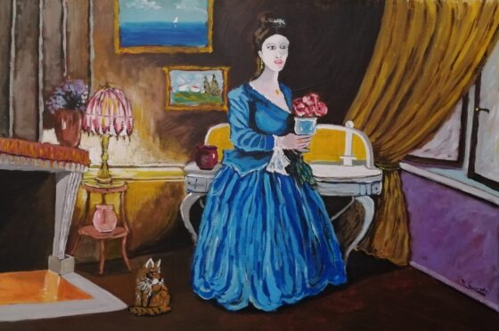 la dama in blu